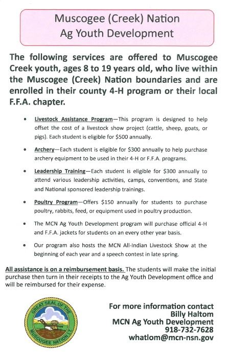 Muscogee Creek Nation Ag Youth Development